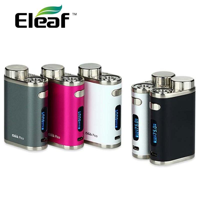 Scatola originale 75 W Eleaf iStick Pico TC MOD E-cigarette Vape Temper Controllo Mod senza 18650 Batteria fit Melo 3 Mini atomizzatore