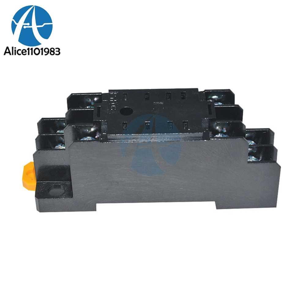 Yeni AC 220V DC 24V 5A 8 Pin PYF08A röle soket tabanı için MY2NJ/HH52P/ H3Y-2/ST6P