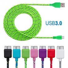 Bunte 1 M 3FT Stoff Nylon Usb 3.0 Micro Geflochtene Data Sync Ladegerät Ladekabel Kabel Für Samsung Galaxy S5 Note3 n9000