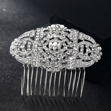 12pcs/lot wholesale Women Wedding Hairpins Tiara Rhinestone Crystal Head Jewelry for Gifts Wedding hair Combs Bijoux