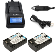 DuraPro 2Pcs LP-E6 LP E6 LP-E6N Li-ion Battery+ LCD Fast Charger for Canon EOS 5DS R 5D Mark II 5D Mark III 6D 7D 60D 70D 80D