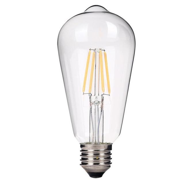1pcs 4w st64 e27 led filament bulb clear grass edison light bulbs indoor led lighting 85