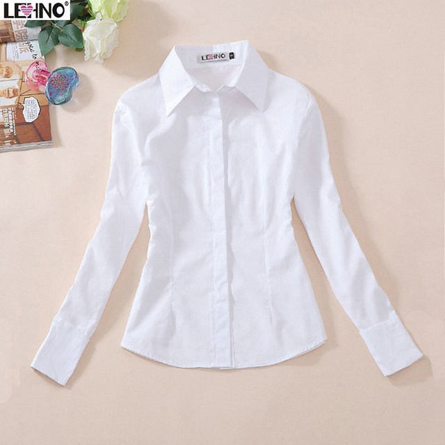 Aliexpress.com : Buy 100% cotton full sleeve white blouse high ...