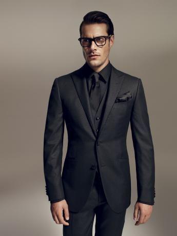 9ce1e1cb8 ⑤2017 Custom Made Black Groom Tuxedos 3 Pieces Slim Fit Mens ...