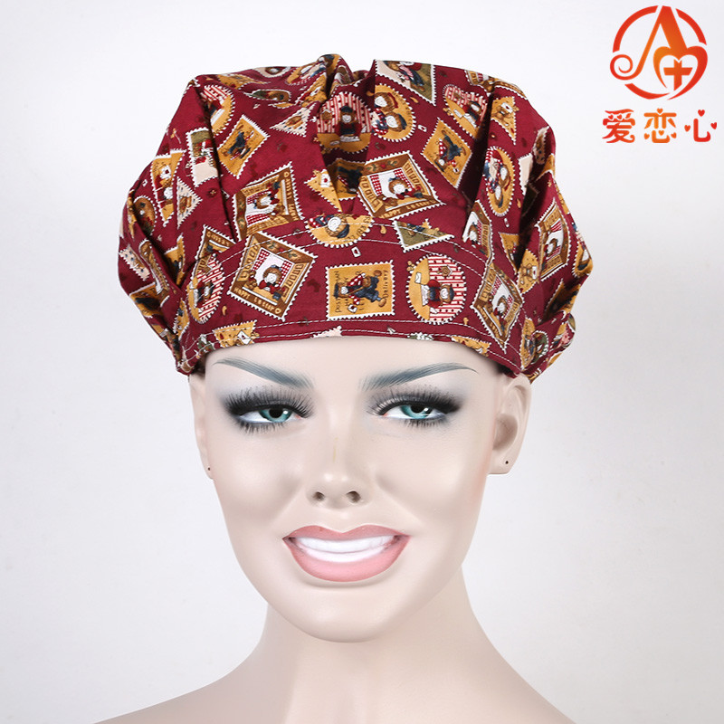 NEW Ai Lianxin surgical caps for female women medical caps,one size adjustable scrub hats In brown ALX-152  ai lianxin new women doctors and nurses surgical caps hat cotton cap and short hair with sweatbands alx 114