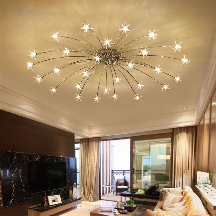 Creative Chandelier Ceiling Bedroom Living Room Modern Lighting Fixture G4 Star Ceiling Fixtures