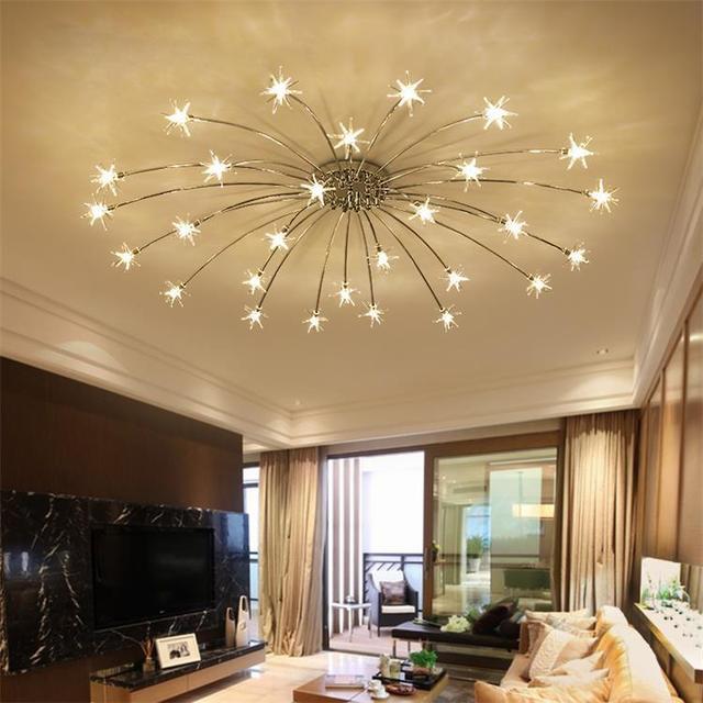 living room lighting fixtures furniture springfield mo creative chandelier ceiling bedroom modern fixture g4 star lustre led for children