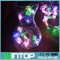 33Ft 100 LEDs Coloridos Borboleta Cobre Luzes Da Corda Luzes De Fadas LED com 12 V DC Power Adapter para o Natal de Casamento decoração