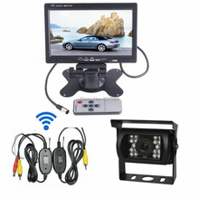 12V Car Rear View Wireless Backup Camera Kit+ 7″ TFT LCD Monitor For Truck /Bus/ Car