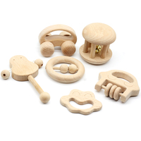 Educational Toddler Infant Newborn Toys 0 12 Months Montessori Wooden Rattles Baby Hot Fashion Happy Monkey Stroller Mordedor