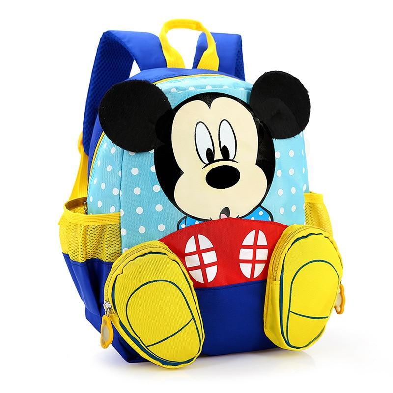 Primary Children Cartoon mickey School Bags 2016 Kids Cartoon Backpack Waterproof Schoolbags Satchel for boys and girls