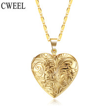 CWEEL Vintage Locket Photo Frame Charms ทอง/(China)