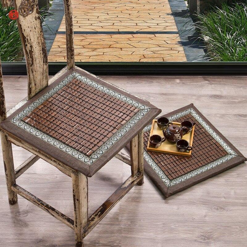 Домашний текстиль из бамбука лето прохладное место стул подушку темно-кофейный 45*45 см квадратные подушки для пол татами стул автомобиль див...