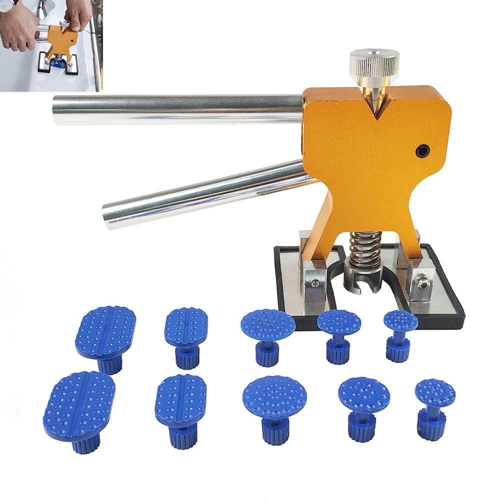 Ferramentas de PDR Paintless Dent Repair Tools Dent Remoção PDR Guias Extrator Dent Levantador Mão Conjunto de Ferramentas kit de Ferramentas de PDR Ferramentas dom gratuito