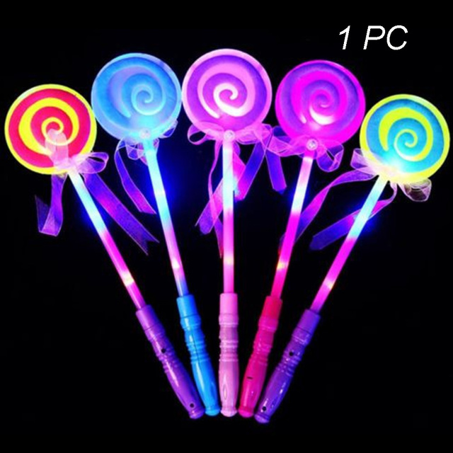 Lollipop Glow Festival Kids Toys Wand Light-Up Led Flash Stick Gifts
