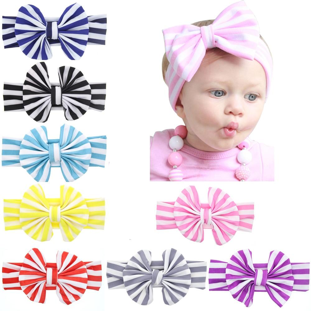 8pcs Baby Girl Kids Toddler Flower Headband Hair Bow Band Accessories Headwear