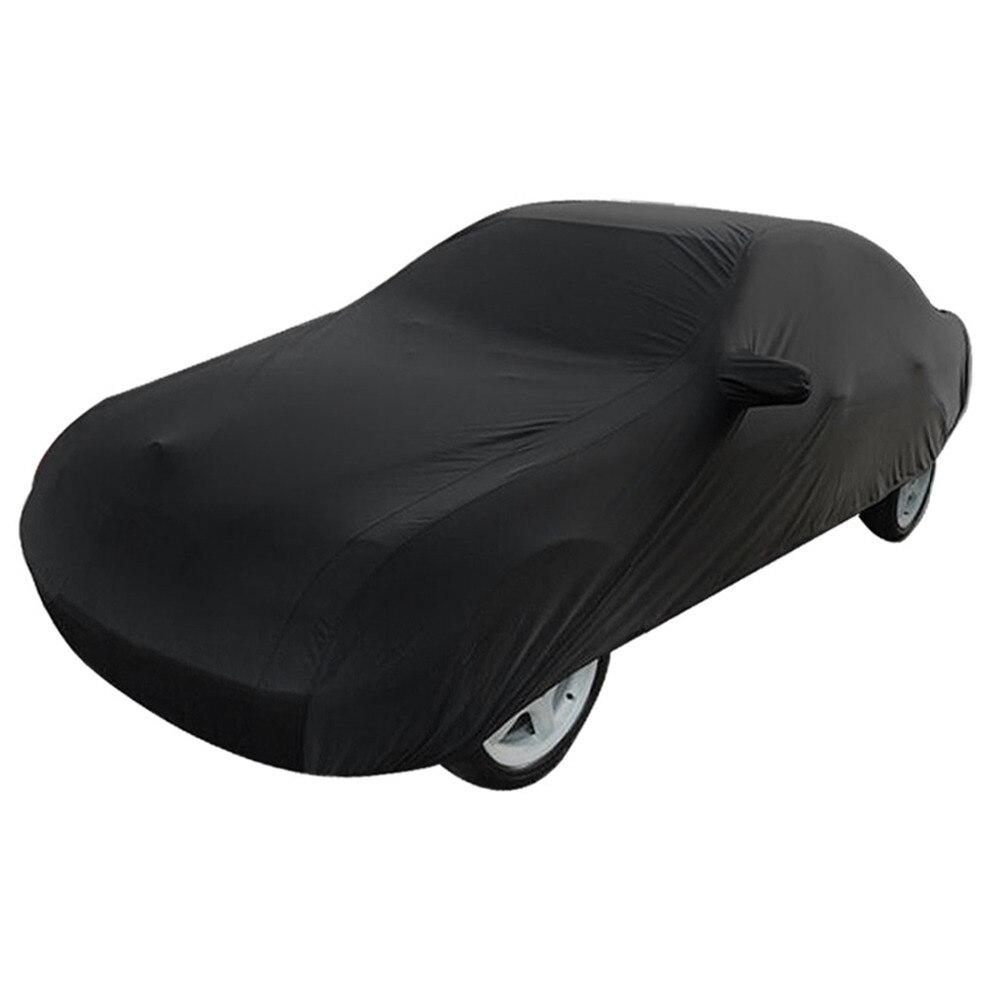 UXCELL Universel Noir Respirant Tissu Imperméable bâche de voiture w Miroir Poche D'hiver de Neige D'été Pleine Protection De Voiture COUVRE - 5