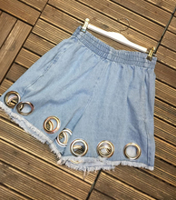 2017 Short Jeans Direct Selling Special Offer Cotton Fashion Shorts Women Europe And The Wind High Waist Metal Ring Female
