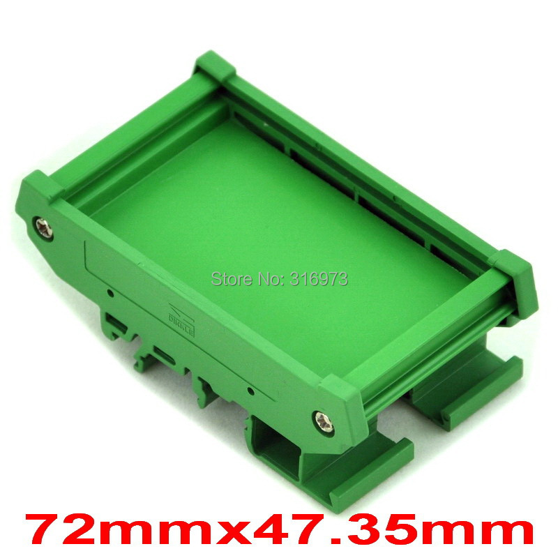 DIN Rail Mounting Carrier, For 72mm X 47.35mm PCB, Housing, Bracket.