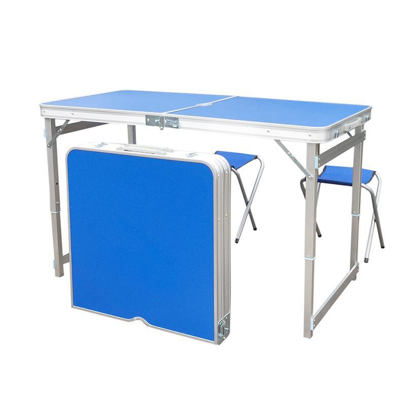 Portable Exhibition Table : Outdoor portable folding tables and chairs set camping bbq