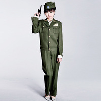 Women arm uniform female military uniform the police clothing performance wear masquerade clothes
