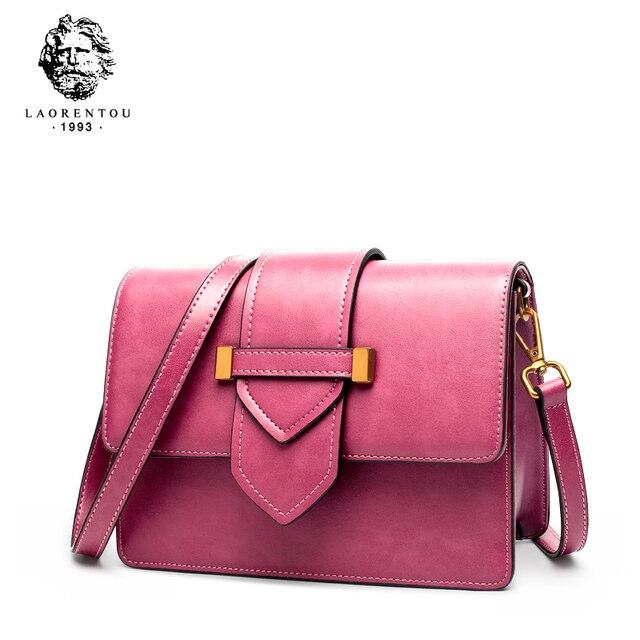Laorentou Для женщин Сумки через плечо моды сумка для леди роскошные Винтаж сумка Разделение кожаные кошельки