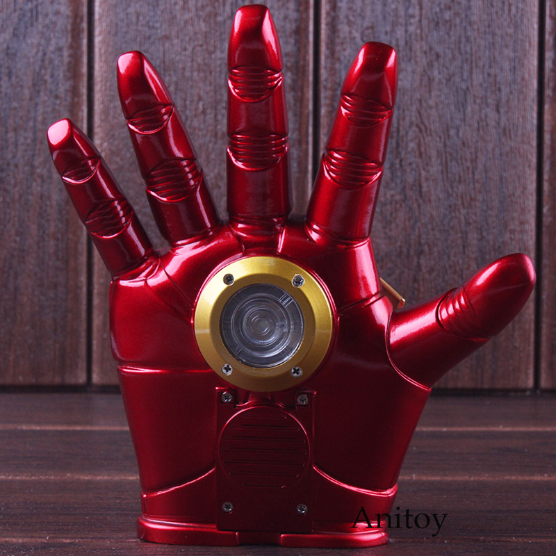Marvel Avengers Cosplay Toy Iron Man Glove with LED Light Repulsor Ray Sound Launchable Movable Action Figure 1