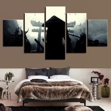 Modular Popular Pictures Modern Cuadros Decoration Photo 5 Panel Samurai Painting Canvas Art Framework Wall For Living Room