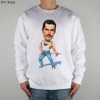 Band Queen fans FREDDIE MERCURY ART Sweatshirts Thick Combed Cotton