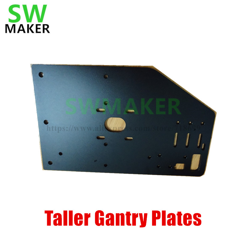 SWMAKER 2 pcs plaques de portique plus hautes pour les pièces d'imprimante 3D de machine à CNC robuste OX