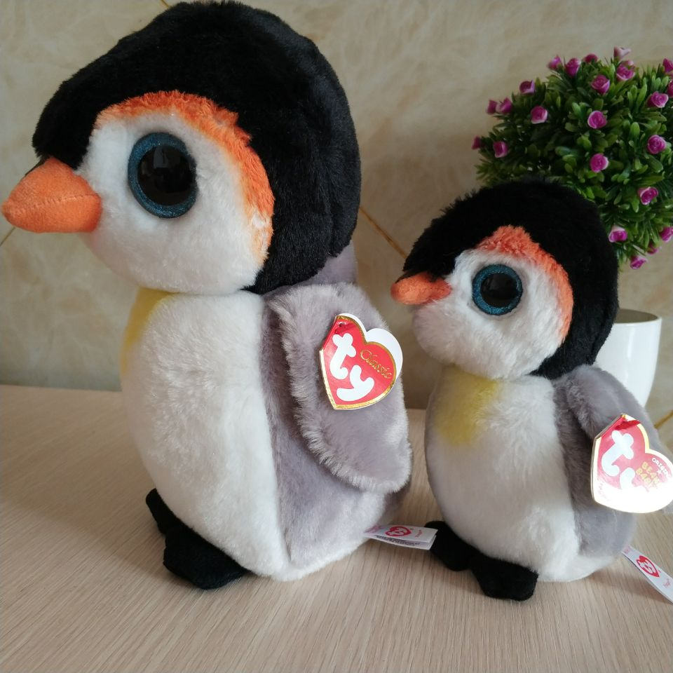 1158813c615 2 pcs pongo penguin 15cm and 25cm 10 inch Ty beanie boos classic ...
