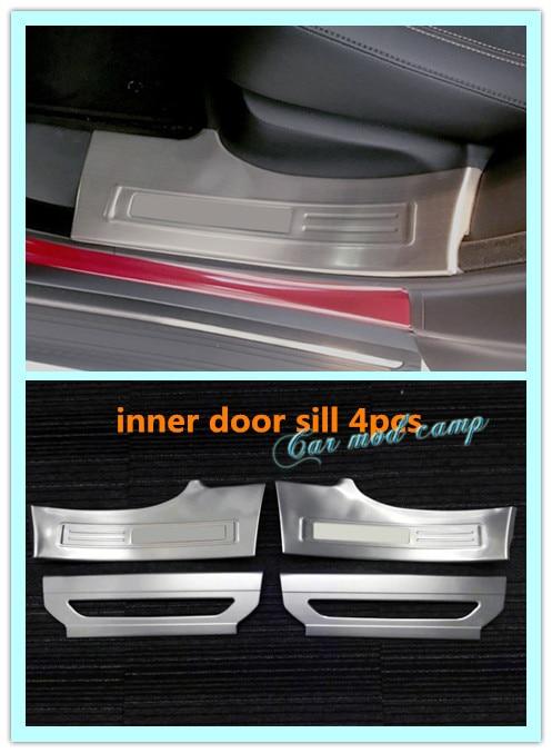 Neu! für Jaguar F-tempo X761 2016 2017 edelstahl Innentür-schwellen-verschleiss-platte schützen dekoration trim