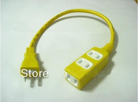 ᓂNEW US standard AC power socket plug to 3 port Outlet Receptacle ...