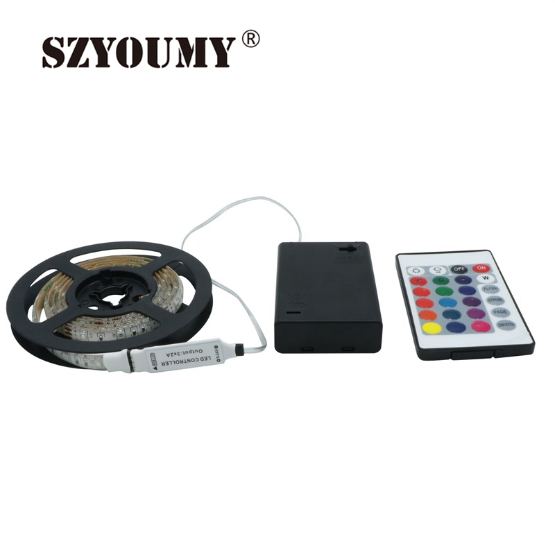 SZYOUMY RGB Led Light Strip аккумуляторы Powered + RGB - LED Жарықтандыру - фото 2