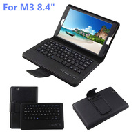 New Arrival Removable Wireless Bluetooth Keyboard PU Leather Protective Case Stand Cover For Huawei M3 8