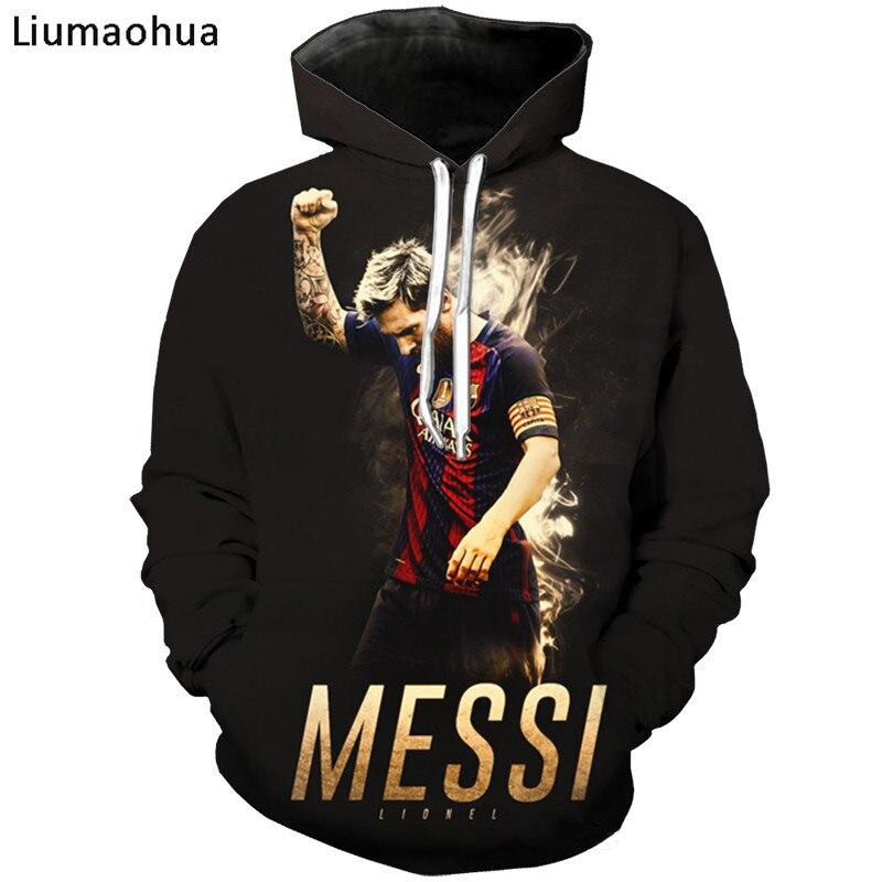 Liumaohua Brand Newest World Cup Football Star Lionel Messi 3D Print Men T Shirt/Sweatshirt/Hoodie Unisex T-shirt Messi Tops