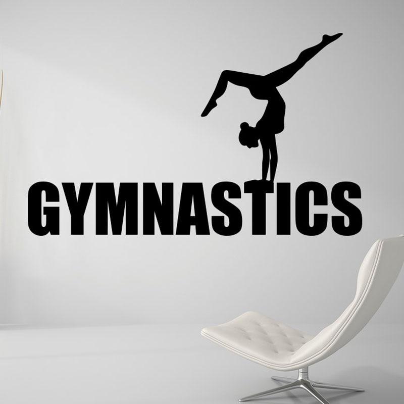 Gymnastics Girls Yoga Wall Sticker Living Room Decor Sports Gym adesivo Art Sports Poster Dance Wall Art Mural H297