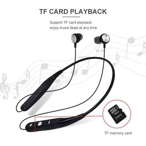 Image 4 - YODELI 733 بلوتوث سماعة الرياضة اللاسلكية سماعات دعم TF بطاقة يدوي سماعة رأس مزودة بميكروفون ل Xiaomi فون الهاتف