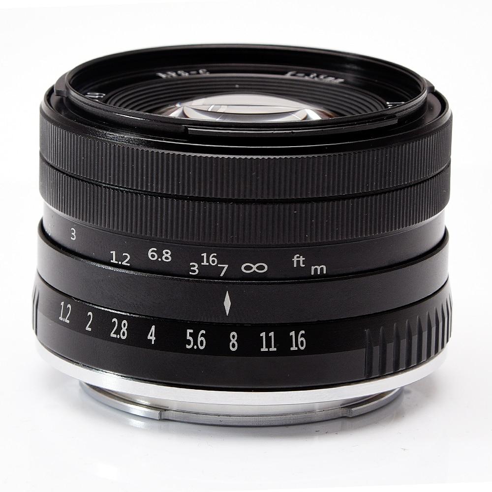 35mm F 1 2 Prime APS C Aluminum Manual Lens for Fujifilm Fuji X A1 X