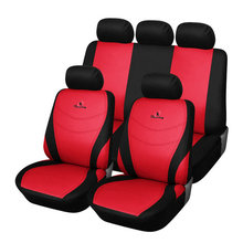 Полиэстер Ткань Красного автомобиля сиденья universal подходит для большинства легковых автомобилей Салонные аксессуары Чехлы для сидений мотоциклов Автокресло Протектор