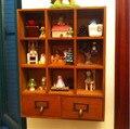 Armário de armazenamento de madeira com gavetas para copos ou cosméticos 42.5 * 9.5 * 33 CM