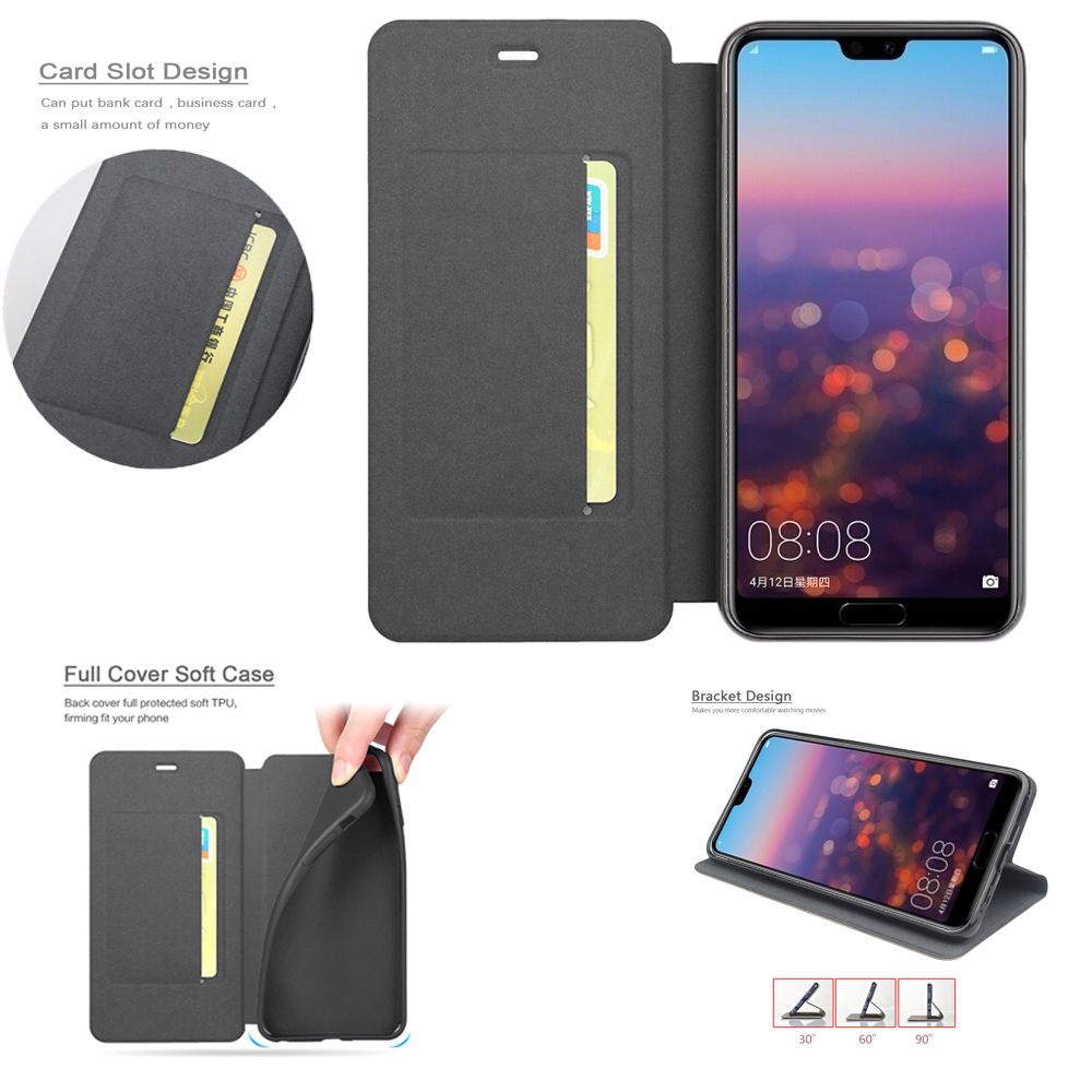 Hand Made for Huaway Honor V10 Phone Bag Case Honor V10 PU Leather + TPU Cover Case Huawei Honor V10 Coque Full Protective Cover image
