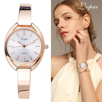 Lvpai de la marca de lujo de las mujeres relojes de pulsera de moda vestido  de 78333cb60ff1