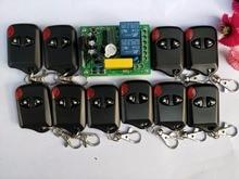 Новый AC220V 2CH rf Беспроводной Дистанционное управление Системы teleswitch 10 кошачий глаз ransmitter и 1 приемник Универсальный ворота пульт дистанционного управления
