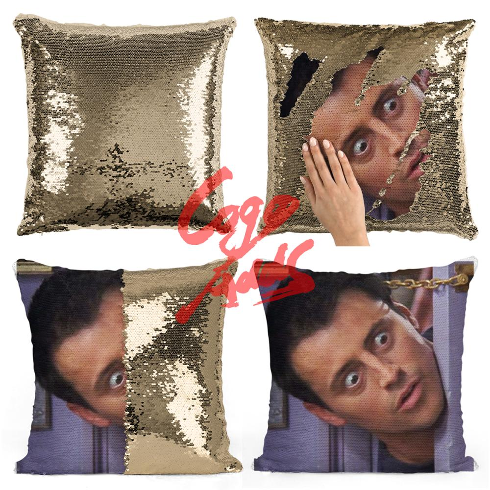 Image 5 - Friends TV SHOW sequin pillows Joey Tribbiani Quote Home Decor, Pillow Cover, Gift for Her, Gift for Him, Housewarming Gift, Gra-in Cushion Cover from Home & Garden