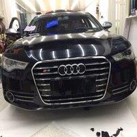 Для Audi A6 C7 RS6 S линии S6 Стиль Chrome Frame черный переднего бампера решетка решетки автомобильные аксессуары 2012 ~ 2015