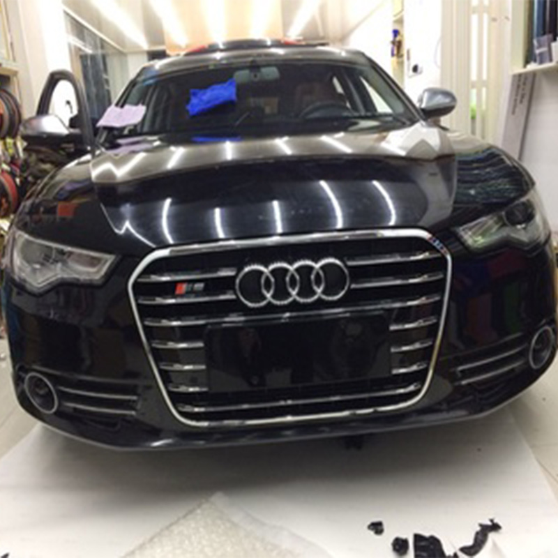 For Audi A6 C7 RS6 S Line S6 Style Chrome Frame Black