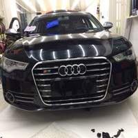 For Audi A6 C7 RS6 S Line S6 Style Chrome frame black Front Bumper Grill Grille car accessories 2012~2015