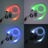 Mini1w RGB led fiber optik aydınlatma 0.75mm 50 adet * 2 m fiber optik DIY dekorasyon