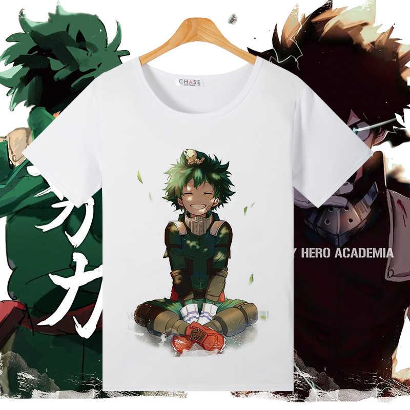 بطلي الأكاديمية تأثيري T قميص Izuku Midoriya Bakugou Katsuki تيشيرت صيفي النساء/الرجال أعلى المحملة زي هالوين تنكري